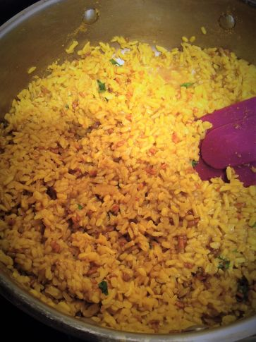 Khichdi - Basic Indian Curry Mung Beans and Basmati Rice - Healthy, Plant-Based, Gluten-Free, Oil-Free, Vegan Recipe
