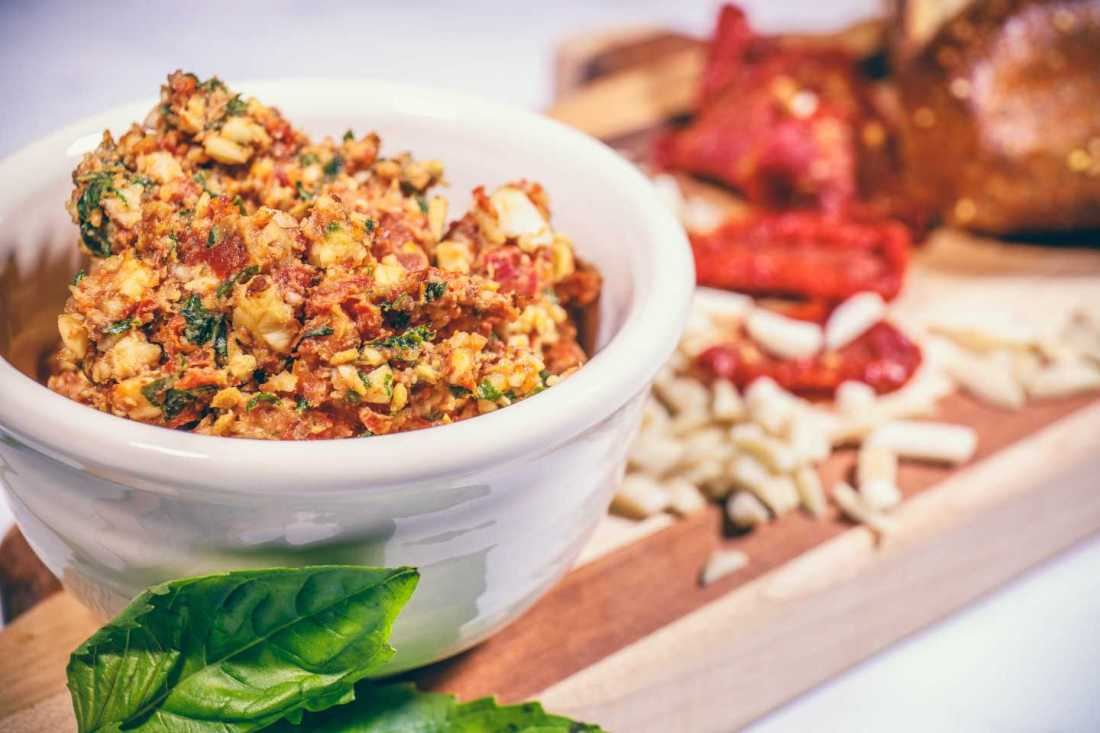 Oil-Free Sun-Dried Tomato Pesto - Easy, Healthy, Plant-Based, Gluten-Free, Raw, Quick, Simple, Vegan Dip Spread Recipe (21)
