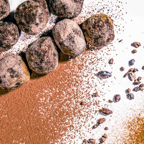 1 Mayan Raw Cacoa Chia Energy Balls - Healthy, Plant-Based, Oil-Free, Gluten-Free, Vegan Dessert Snack Recipe