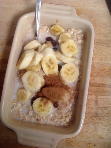 Mix all the ingredients right in your baking dish for this easy, satisfying baked oatmeal breakfast