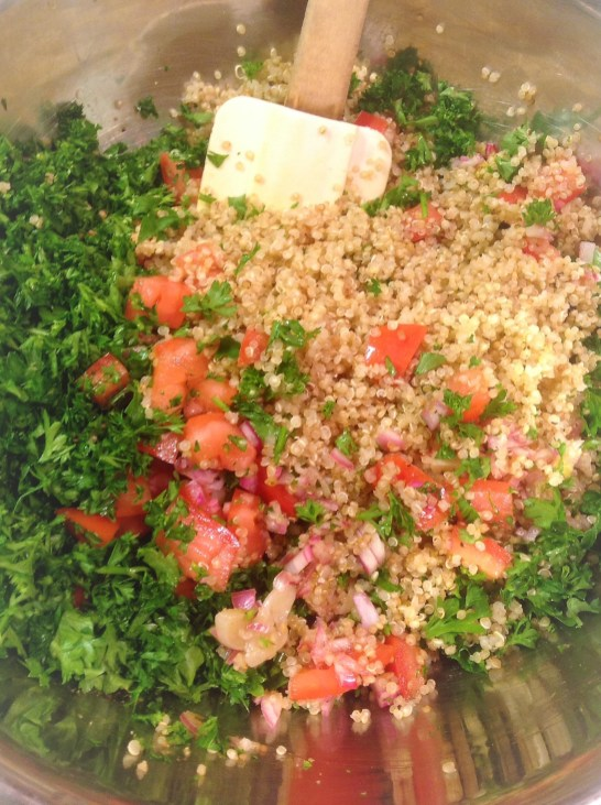 Quinoa replaces cracked wheat for a healthy, gluten-free version of classic Tabbouleh