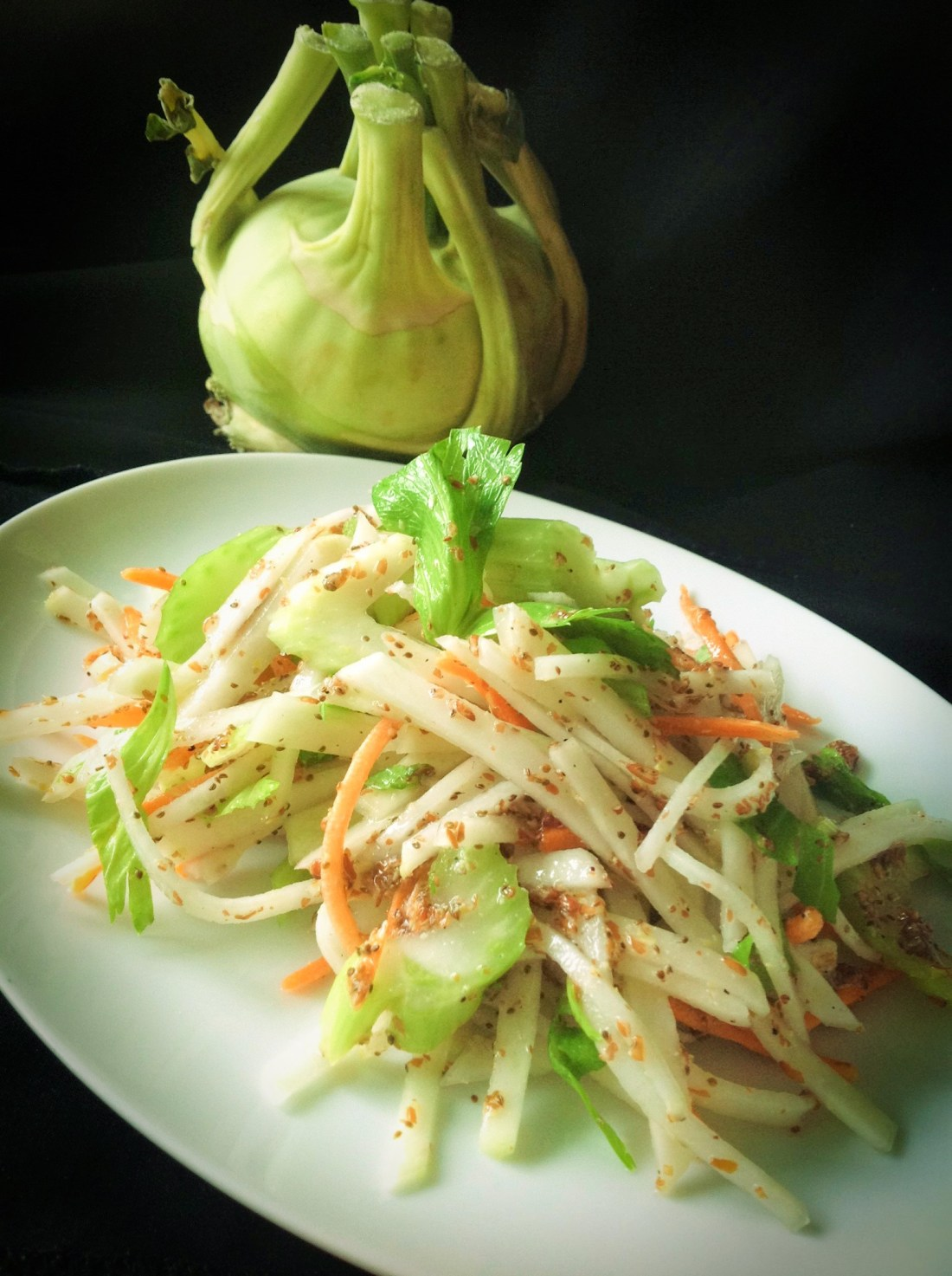 Easy, Light Kohlrabi Slaw - Healthy, Plant-Based, Gluten-Free, Oil-Free, Vegan Summer Salad Recipe from Plants-Rule