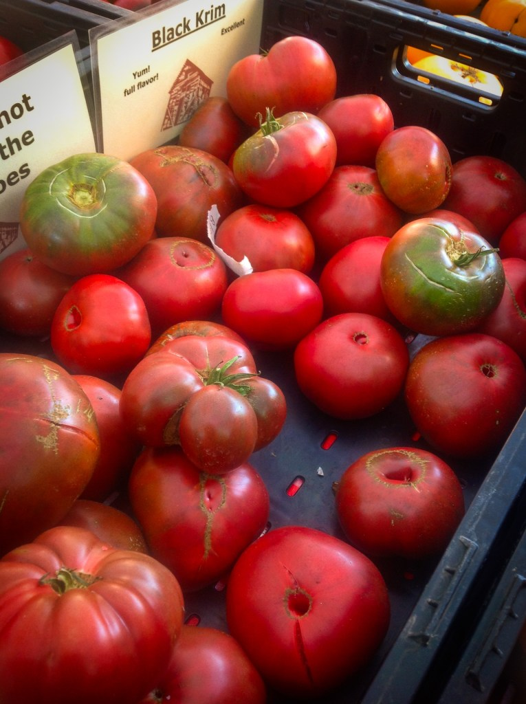 Organic Tomatoes at Farmers Market