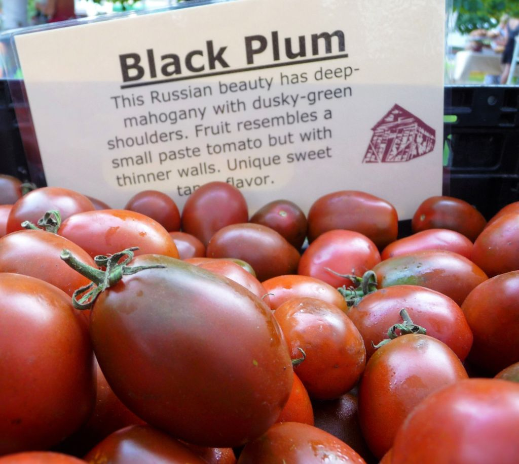 Black Plum Organic Tomatoes at Chicago's Green City Farmer's Market