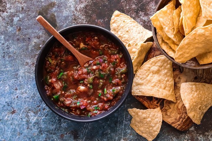 just like a mexican restaurant this salsa will keep you coming back for more
