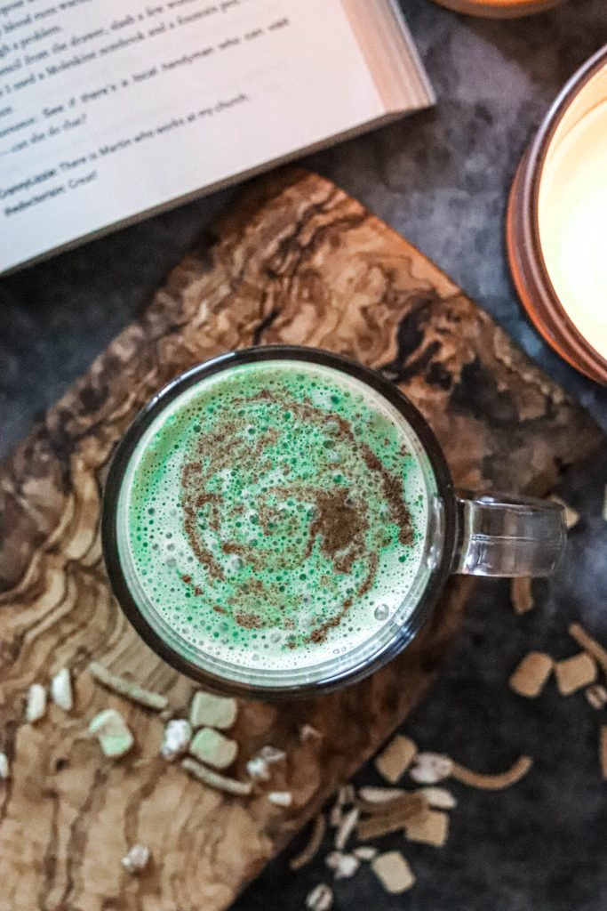 Easy Matcha Latte vegan and dairy free