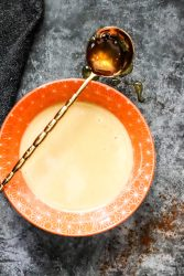honey mustard dressing and dipping sauce photo in an orange bowl