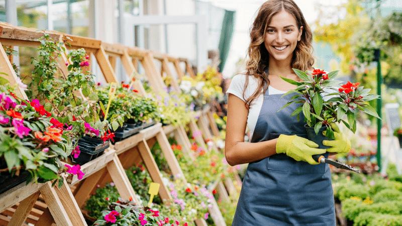 Female Master Gardener at Work