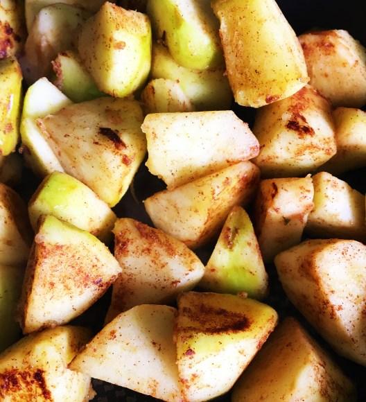 apples fryinh