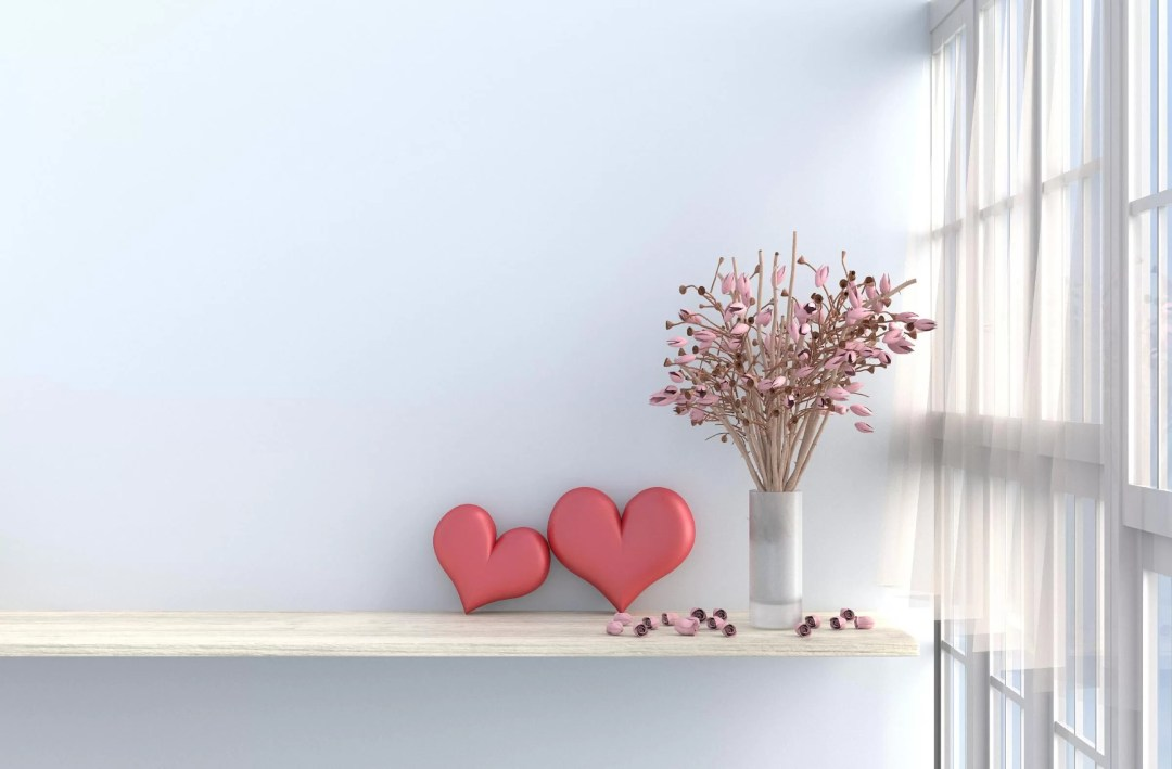Heart Vase Valentines Decorations for Office