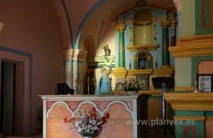 altar de la iglesia villa del arco