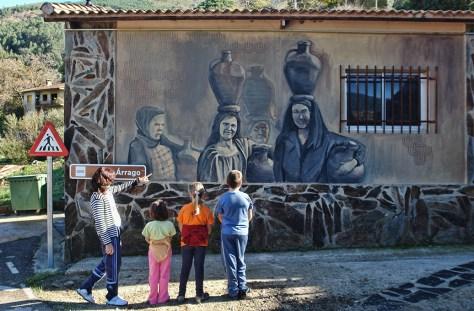 Mural en Robledillo de Gata