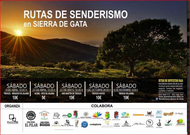 Cinco Rutas Senderistas Por Sierra De Gata Planve