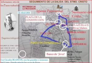 Cristo de la Victoria mapa procesión 2016