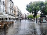 Plaza Mayor, un día de lluvia