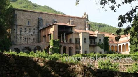 Monasterio de Yuste norte de Extremadura planVE
