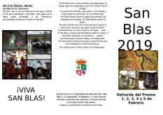programa san blas 2019 valverde del fresno