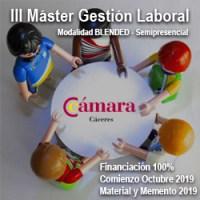 Máster de Gestión Laboral Cámara de Comercio de Cáceres