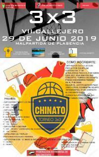 cartel del torneo de baloncesto callejero de Malpartida de Plasencia