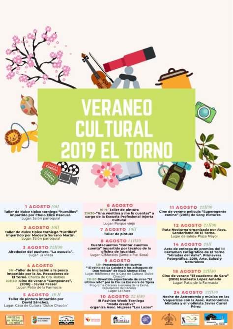 cartel veraneo cultural El Torno 2019