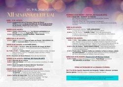 programa de la Semana Cultural de Piornal 2019