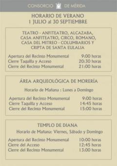cassa-anfiteatro-mérida-horario