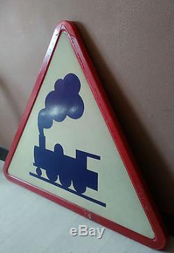 Ancien panneau signalisation routire train