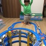 親バカ日記(^ ^) 親子で大好きなプラレール遊び■2歳児のはしゃいでる可愛い動画付き