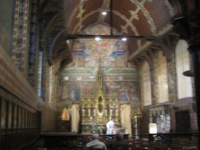 inside the basilica of the holy blood