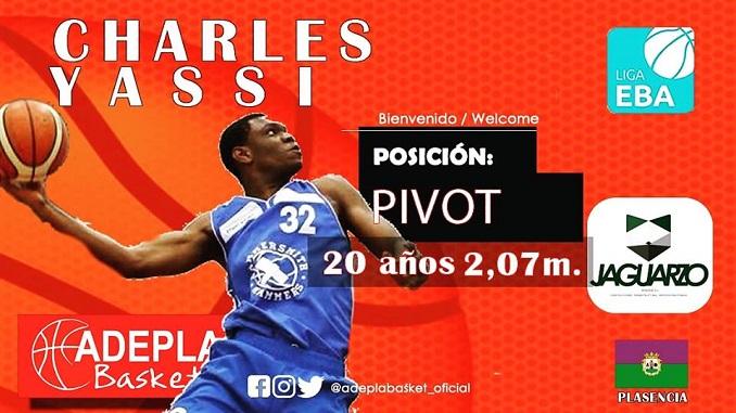 CHARLES YASSI nuevo jugador del Adepla Basket