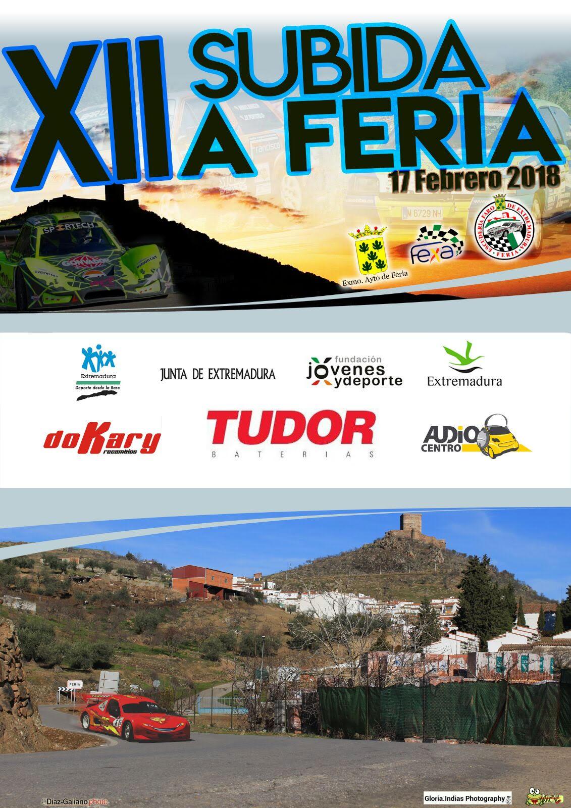 Miguel Grande representante del Extremadura Rallye Team en la Subida a Feria