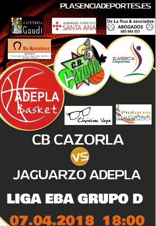 CB Cazorla Jaén - Adepla Basket