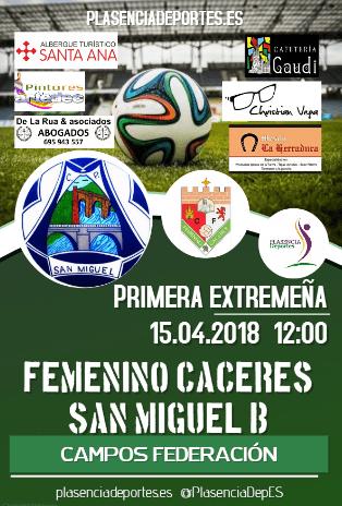 "Femenino Atlético Cáceres - San Miguel ""B"""