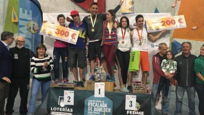 El placentino Javier Cano tercero en la Copa de España de escalada en Bloque disputada en el Cereza Wall