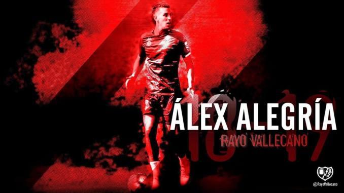 Álex Alegría, cedido por el Real Betis al Rayo Vallecano