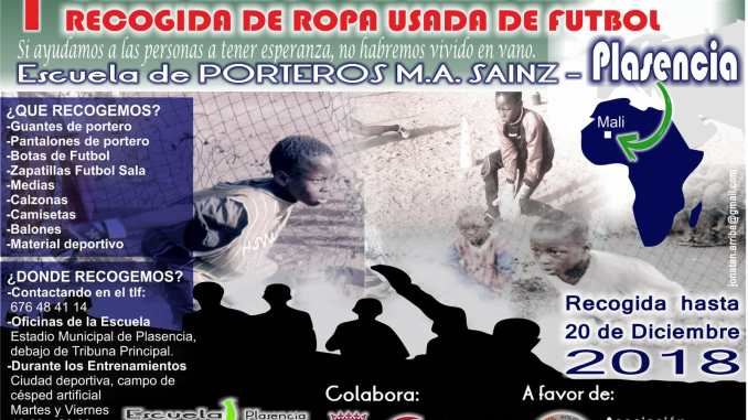 I Campaña Solidaria Navideña organizada por Escuela Porteros M.A Sainz