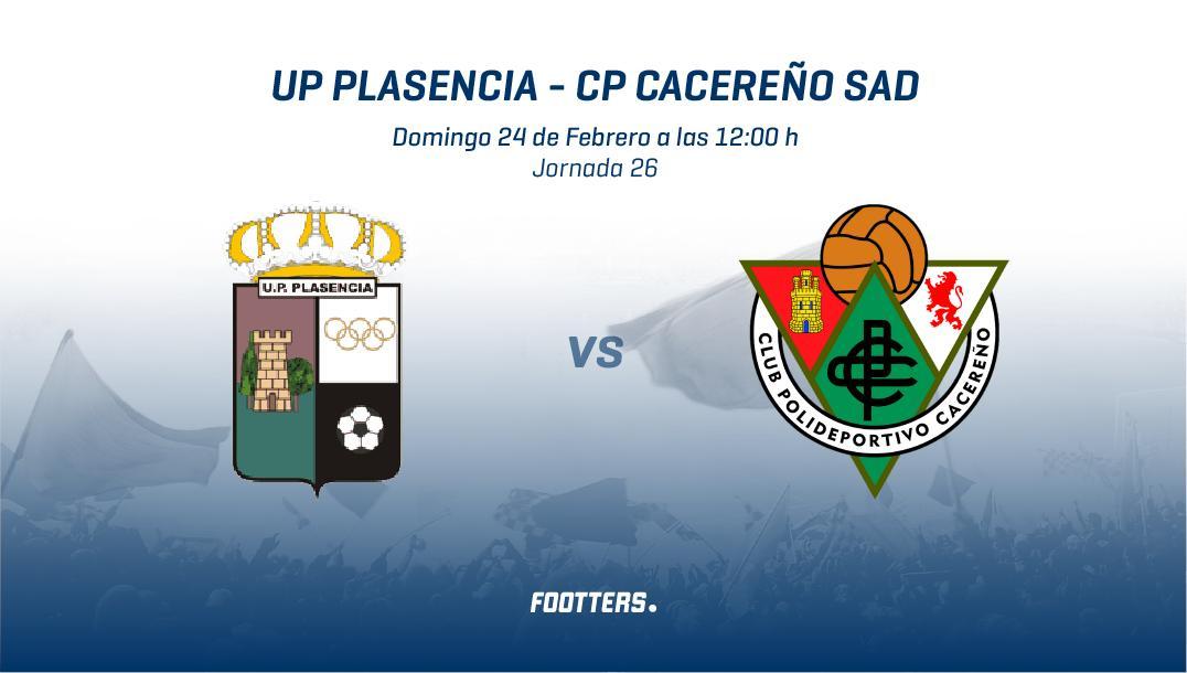 up plasencia vs CP Cacereño en footers