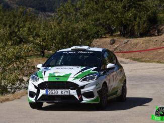 Grande y Sánchez en el Rallye de la Vendimia