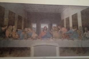 La última cena de Leonardo da Vinci (copia a la salida del museo)