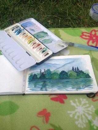 Pintando junto al Alster