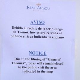 Parte de los jardines estaban cerrados por el rodaje de Game of Thrones