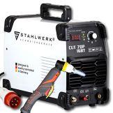 STAHLWERK CUT 70 P IGBT Plasmaschneider mit 70 Ampere, Pilot-Zündung, bis 25 mm Schneidleistung, für Flugrost geeignet, weiß, 7 Jahre Garantie - 1