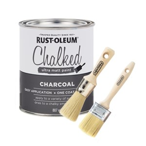 Chalk paint starter package - charcoal