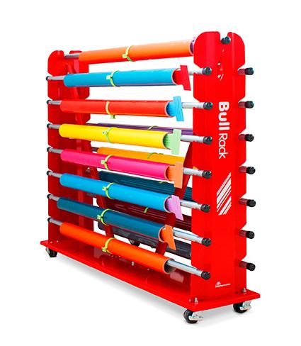 media storage racks for media rolls