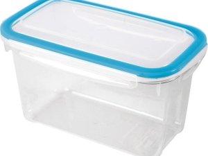 2x Voorraad/vershoudbakjes 1,2 liter transparant plastic/kunststof - Kiev - Luchtdicht/hermetisch afgesloten vershouddoos bakje - Mealprep - Maaltijden bewaren
