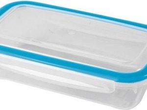 3x Voorraad/vershoudbakjes 0,5 liter transparant plastic/kunststof - Kiev - Luchtdicht/hermetisch afgesloten vershouddoos bakje - Mealprep - Maaltijden bewaren