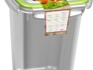 3x Voorraad/vershoudbakjes 0,75 liter transparant/groen plastic/kunststof - Kiev - Luchtdicht/hermetisch afgesloten vershouddoos bakje - Mealprep - Maaltijden bewaren