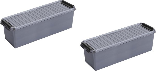 6x stuks sunware Q-Line opbergboxen/opbergdozen 1,3 liter 20 x 15 x 14 cm kunststof - Praktische opslagboxen