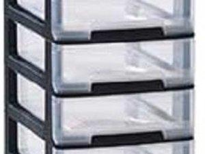 Curver Babel Ladesysteem A4 10x5l Zwart - 35x26.5x95.5cm