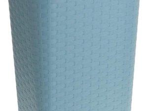 Grijsgroene kunststof wasmand 60 liter - Wasmanden/wasgoedmanden - Huishoudelijke producten/artikelen - Huishouden